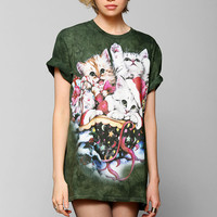The Mountain Holiday Cats Tee - Urban Outfitters