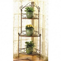 Rustic Corner Bakers Rack