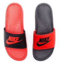 NIKE Casual Fashion Solid Color Flats Slipper Sandals Shoes Contrast Style
