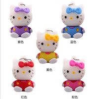 Hot sell hello kitty usb flash drive 8gb pen drive 16gb pendrive 32gb cartoon flash drive u disk flash card external storage