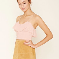 Flounce-Layered Cropped Cami