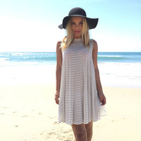 Flare Away Stripe Jersey Tank Dress