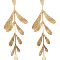 Golden Textured Linear Earrings