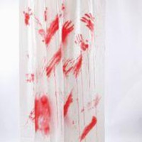 Halloween Decorations: Bloody Shower Curtain