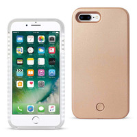 REIKO IPHONE 7 PLUS LED SELFIE LIGHT UP ILLUMINATED CASE IN ROSE GOLD