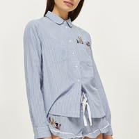 Bunny Embroidered Pocket Pyjama Set | Topshop