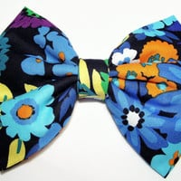 VERA BRADLEY Midnight Blues hairbow (Also offered in: Tutti Frutti, Heather, Ribbons, Plum Crazy, Paisley Meets Plaid and more)