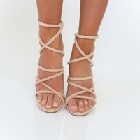 Stacked Bundles Strappy Heels