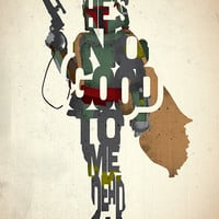 Boba Fett typography art print poster based on a quote from the movie Star Wars The Empire Strikes Back