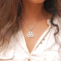 Charmed Pendant, Triquetra design necklace, The Power of Three, Vampire necklace, Charmed jewelry, Series jewelry, Triquetra necklace.