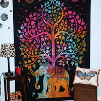 Mynelo Your Spirit Space (TM) Rainbow Good Luck Elephant Tapestry- Quality For Home or Dorms Psychedelic Hippie Islamic Asian Contemporary Canvas Wall Hanging Art. The Ultimate Bohemian Tapestry Decor.