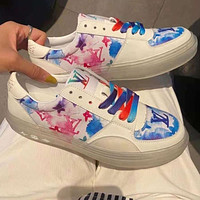 LV Louis Vuitton two-tone lace-up summer new casual sports shoes breathable all-match sneakers Shoes