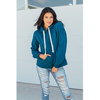 Running To You Hoodie-Teal(S-XL)