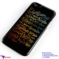 Harry Potter Black Magic Spells - Personalized iPhone 7 Case, iPhone 6/6S Plus, 5 5S SE, 7S Plus, Samsung Galaxy S5 S6 S7 S8 Case, and Other