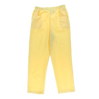 Alfred Dunner Womens Elastic Waist Solid Casual Pants