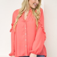 Get Your Ruffles On Blouse