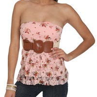 Lace Tiered Tube Top | Shop Tops at Wet Seal
