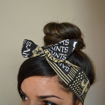 new orleans saints, headband, Dolly bow head bands, head band, hair bow