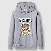 Moschino Women Men Fashion Casual Top Sweater Pullover Hoodie