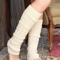 Cable Knit Knee High Leg Warmer