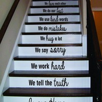 In Our Home Version 3 Stairs Decal Sticker Wall Vinyl Art Home Family