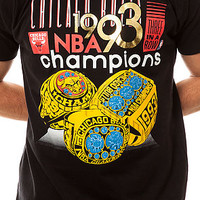 The Chicago Bulls 1993 NBA Finals Championship Tee in Black