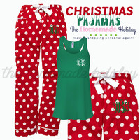 Christmas Polka Dot Pajama Set