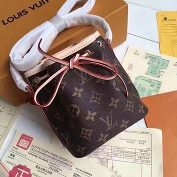 LV Women Shopping Leather Tote Handbag Shoulder Bag Print flower