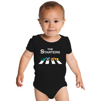 The Starters Pokemon Abbey Road Funny Baby Onesuits