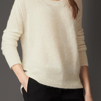 Mohair Blend Scoop Neck Sweater