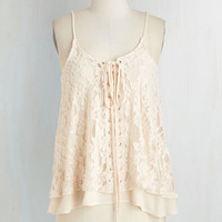 Boho Mid-length Spaghetti Straps Freeing Feeling Top by ModCloth