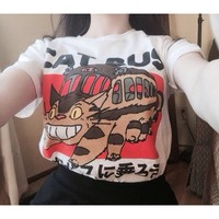 Studio Ghibli Neighbour Totoro Cat Bus Japanses Anime Unisex T-Shirt
