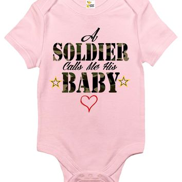 Baby Bodysuit - A Soldier Calls Me His Baby