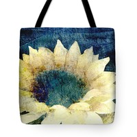 "Flower Art Faded Sunflower Tote Bag for Sale by Ann Powell (18"" x 18"")"