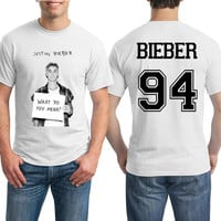 Justin Bieber Shirt Bieber Black and White Tshirt