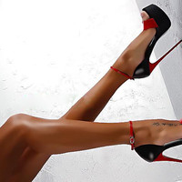 Stylish Summer Design High Heel Sandals = 4804955076