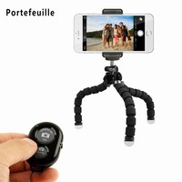 Remote Shutter with Flexible Octopus Mini iPhone Tripod