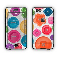 The Icon Shaped Color Buttons Apple iPhone 6 LifeProof Nuud Case Skin Set
