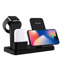 3 in 1 Qi Wireless Mobile Charging Stand For Apple Devices
