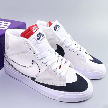 """Nike SB Zoom Blazer Mid Edge """"Hack Pack"""" Deconstruction Ding Feng Trail Blazers high-top fit with hundred leisure sports shoes"""