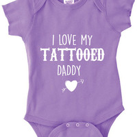 Infant Clothing - I Love My Tattooed Daddy Onesuit - Children (0-18 Months)