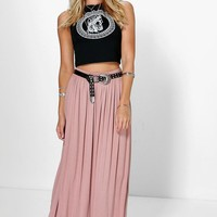 Sophia Floor Sweeping Viscose Maxi Skirt