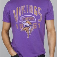 NFL Minnesota Vikings Kick Off Tee T-Shirt by Junk Food