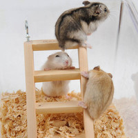 Hamster Natural Wooden Ladder Small Animals Pets Rat Climbing Toys Cage Accessory