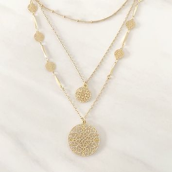 Shining Armor Layered Gold Necklace
