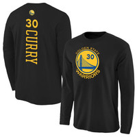 Stephen Curry Golden State Warriors Royal Backer Long Sleeve T-Shirt