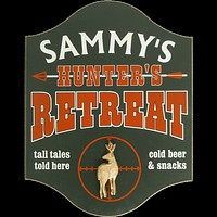 Personalized Hunter Retreat Deer Wood Sign
