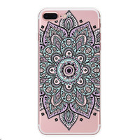 Hollow Out Floral Case for iPhone 7 7Plus & iPhone se 5s 6 6 Plus Best Protection Cover +Gift Box-91