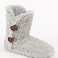 Kirra Cable Fur Slippers at PacSun.com
