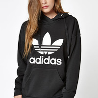 adidas Black Trefoil Pullover Hoodie at PacSun.com